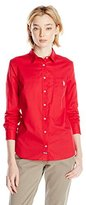 U.S. Polo Assn. Juniors' Long Sleeve Classic Solid Poplin Woven Shirt