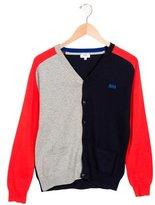 HUGO BOSS Boys' Colorblock Long Sleeve Cardigan