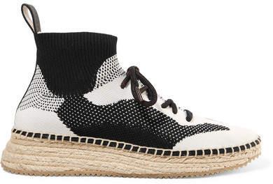 Alexander Wang Dakota Stretch-knit Espadrille Sneakers - Black