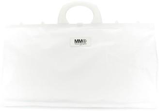 MM6 MAISON MARGIELA logo shopper tote