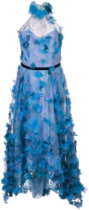 Marchesa 3D floral bodice gown