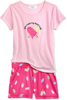 Family Pajamas You Make My Heart Melt Top and Boxer Shorts Pajama Set, Created for Macy's, Little Girls (2T-7) & Big Girls (8-16)