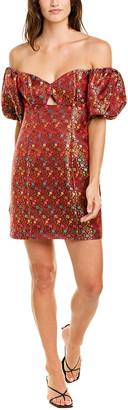 Caroline Constas Titos Silk-Blend Mini Dress