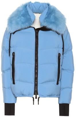 MONCLER GRENOBLE Plaret fur-trimmed down jacket