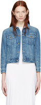 Helmut Lang Blue Shrunken Denim Jacket