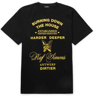 Raf Simons Oversized Printed Cotton-Jersey T-Shirt