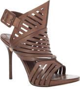 Max Studio Etienee Slashed Leather Stiletto Sandal