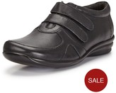 Foot Cushion Pippa Touch Strap Fasten Leather Comfort Shoes