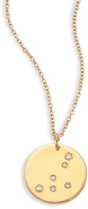 Bare Constellations Capricorn Diamond & 18K Yellow Gold Pendant Necklace
