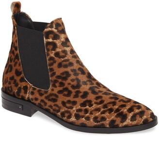 Freda Salvador Sleek Genuine Calf Hair Chelsea Boot