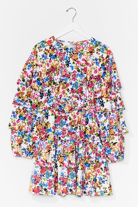 Nasty Gal Womens Plant Stop Me Now Floral Mini Dress - White