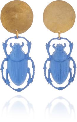 We Dream In Colour Khepri Brass and Glass Earrings