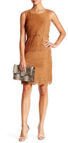 Chetta B Suede Fitted Dress