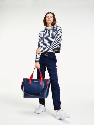 Tommy Hilfiger All-Over Stripe Cropped Hoody