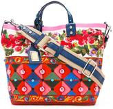 Dolce & Gabbana Mambo print shopper tote - women - Cotton/Leather - One Size