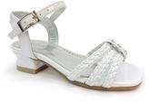 Laura Ashley White Woven Sandal