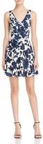 Aqua Floral Scuba Fit-and-Flare Dress - 100% Exclusive