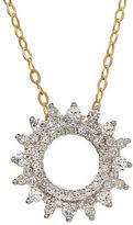 Lord & Taylor Diamond and 14K Yellow Gold Sunburst Pendant Necklace