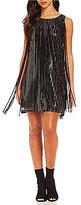 Chelsea & Violet Sequin with Fringe Sleeveless Dress