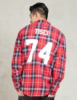 Les (Art)ists Red TISCI74 Football Flannel Shirt
