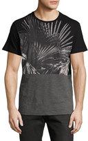 Diesel Paneled Palm Tree Shirt, Black