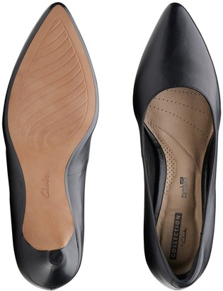 Clarks Linvale Jerica Wide Fit Heeled Shoes - Black