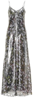 Ganni Metallic silk dress