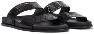 Alaia Perforated leather sandals