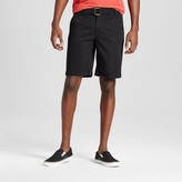 Mossimo Men's Belted Flat Front Chino Shorts with Stretch