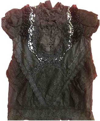 Manoush Black Lace Top for Women