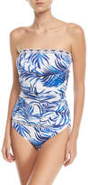 Tommy Bahama Underwire Printed Long Bandini Swim Top