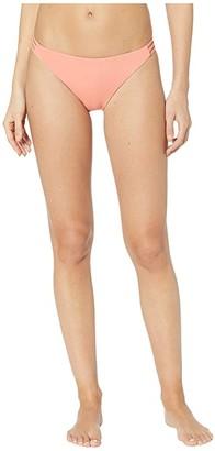 Roxy Solid Beach Classics Fashion Full Bikini Bottoms (Terra Cotta) Women's Swimwear