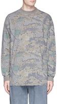 Yeezy Leaf camouflage print long sleeve T-shirt