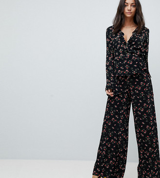 Glamorous Tall Wide Leg Pants In Floral Print