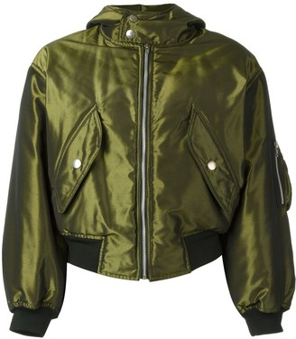 Jean Paul Gaultier Pre Owned Shiny Hooded Bomber Jacket