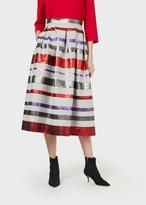 Emporio Armani Skirt In Lurex Jacquard With A Baiadera Stripe Pattern