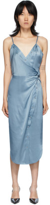 Alexander Wang Blue Cami Twist Midi Dress