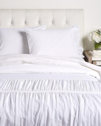 Boho Bed Velvet & Voile Ruffle Duvet Set