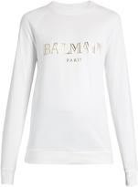 Balmain Logo-print cotton-jersey sweatshirt