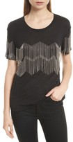 The Kooples Women's Chain Fringe Tee
