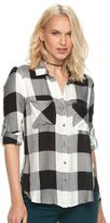 Rock & Republic Women's High-Low Plaid Shirt