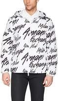 A|X Armani Exchange Men's Logo Printed Armani Activewear Jacket
