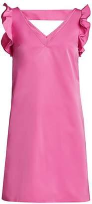 No.21 No. 21 Flutter-Sleeve Shift Dress
