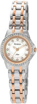 Swarovski Armitron Now Womens Crystal-Accent Two-Tone Stainless Steel Watch