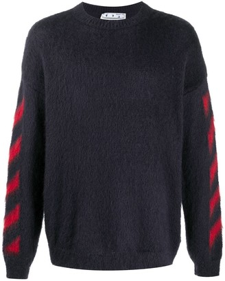 Off-White Brushed Mohair Sweater Grey