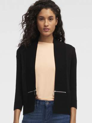 DKNY Open-front Sweater With Zipper