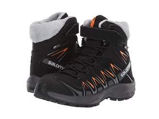 Salomon XA Pro 3D Winter TS CSWP (Little Kid/Big Kid) (Black/India Ink/Bright Marigold 1) Boys Shoes