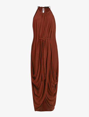 AllSaints Erin crepe maxi dress