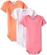 Petit Bateau 3 Pack Bodysuits (Baby) - Pink/Orange - 24 Months
