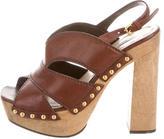 Miu Miu Stud-Embellished Platform Sandals